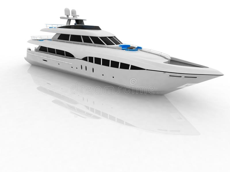 Download Pleasure yacht stock illustration. Image of motor, speed - 21509289