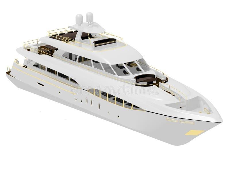 Pleasure yacht vector illustration