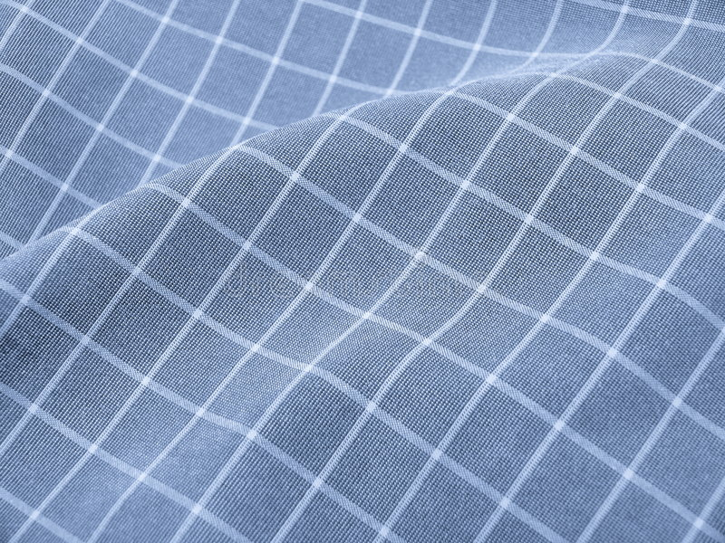 Download Pleated Checkered Blue Fabric Stock Photo - Image: 3216854