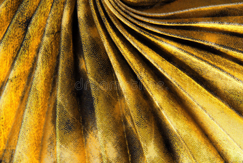 Pleated fabric texture. Close up of the pleated fabric texture stock photos