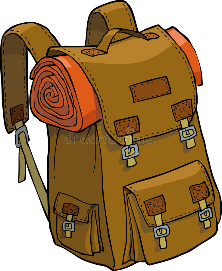 plecak royalty ilustracja