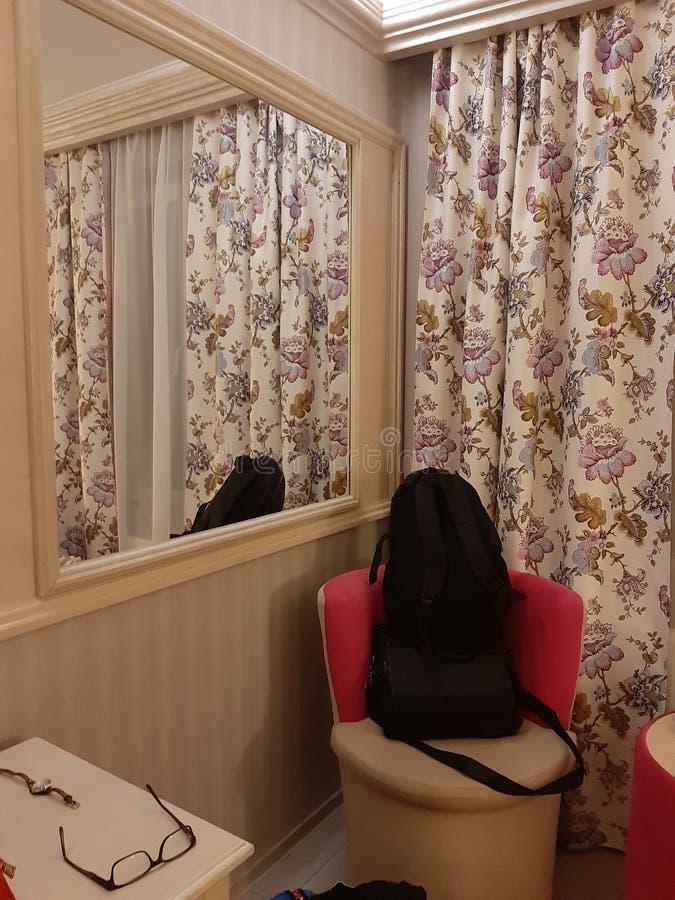 Plecak gotowy iść hotelowy luks obrazy stock