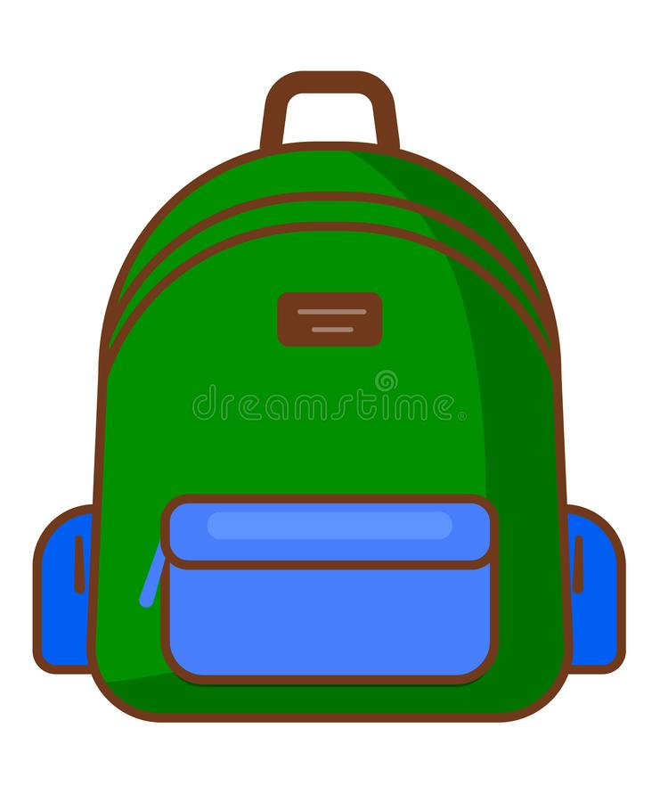 Plecak ikona podróżuje ikonę - wektoru szkolny symbol - royalty ilustracja