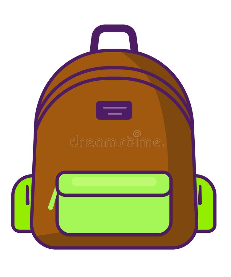 Plecak ikona podróżuje ikonę - wektoru szkolny symbol - ilustracji