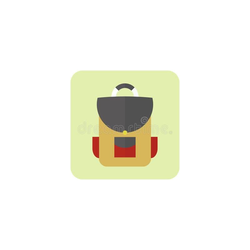 Plecak ikona, Schoolbag również zwrócić corel ilustracji wektora 10 eps ilustracja wektor