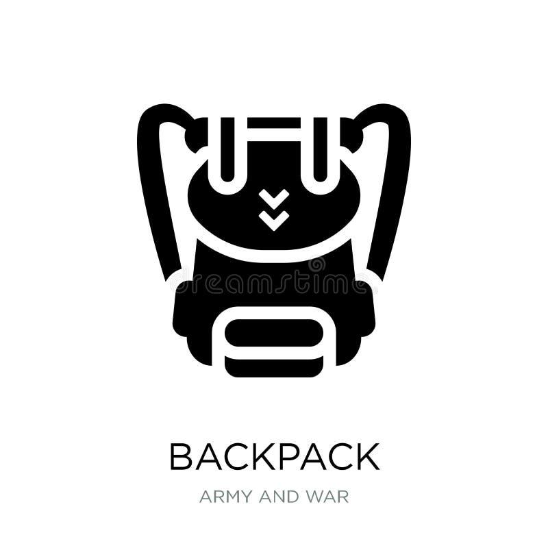 plecak ikona w modnym projekta stylu Plecak ikona odizolowywająca na białym tle plecak wektorowej ikony prosty i nowożytny mieszk ilustracji