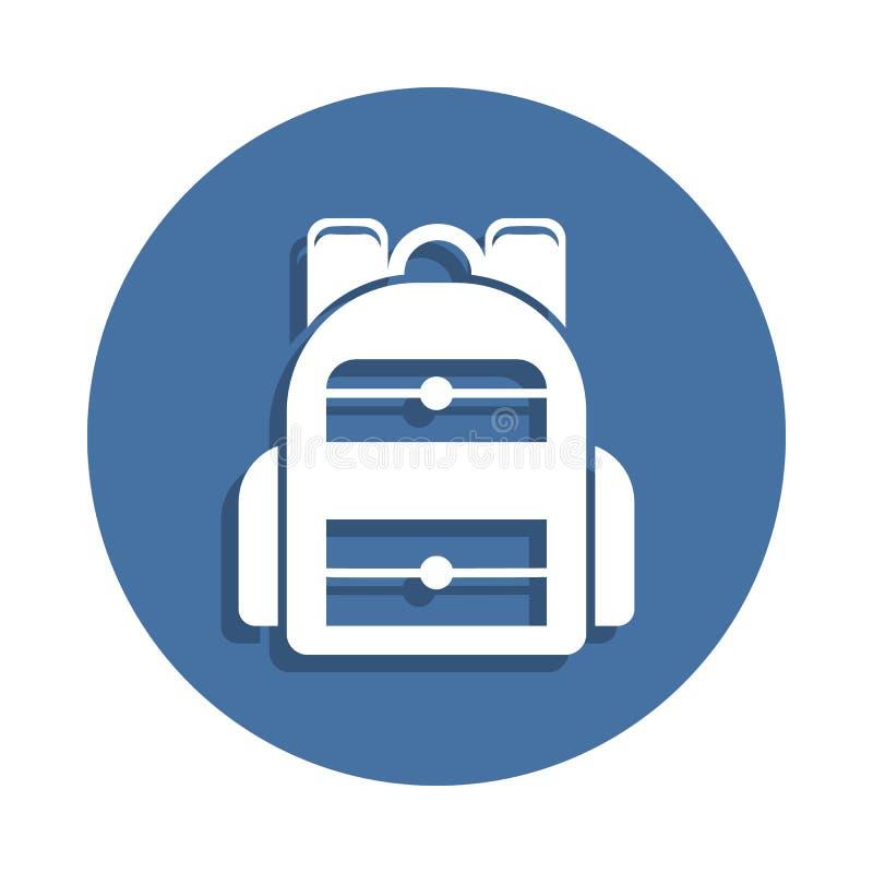 Plecak ikona w odznaka stylu Jeden edukaci inkasowa ikona może używać dla UI UX ilustracja wektor