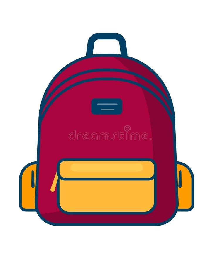 Plecak ikona Wektoru szkolny symbol łatwy redaguje ikonę target2112_0_ royalty ilustracja