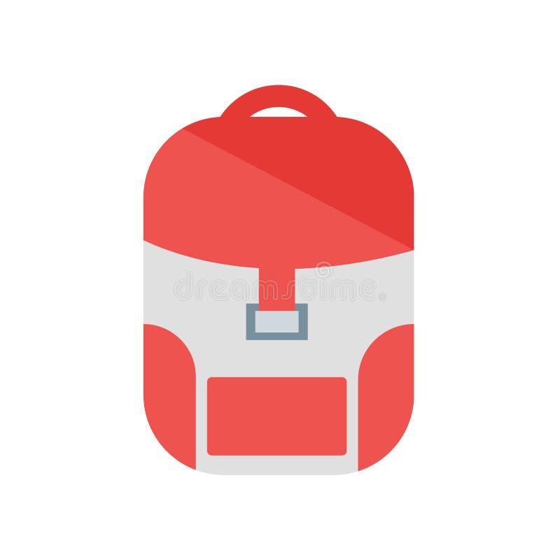 Plecak ikony wektoru znak i symbol odizolowywający na białym backgroun ilustracji