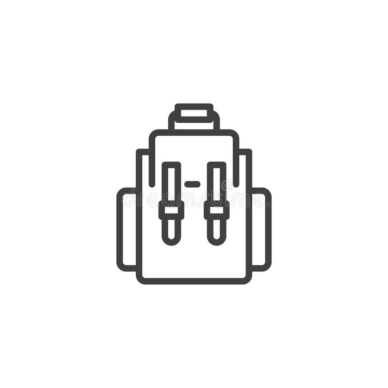 Plecaka konturu ikona ilustracja wektor