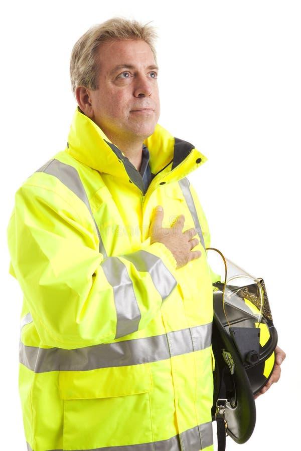 Plechtige brandbestrijder stock foto