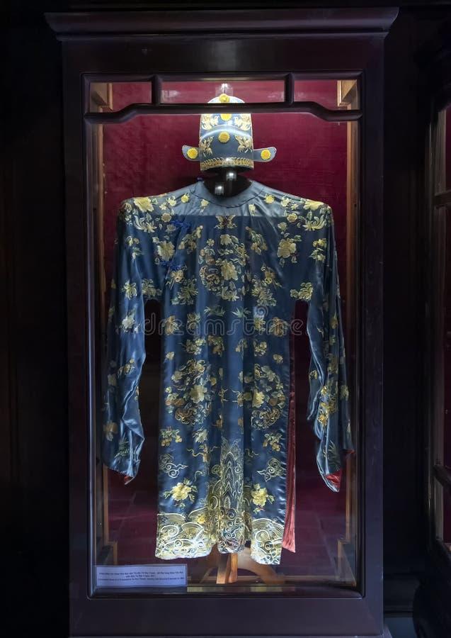 Plechtige kleding van burgerlijke mandarin Vu Duy Thanh, winnende sub-Doctorale Laureaat in 1851 royalty-vrije stock foto