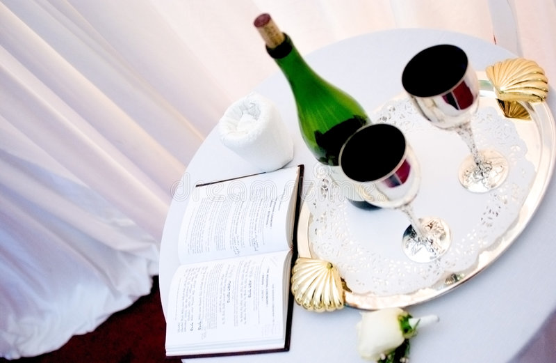 Plechtige wijn stock foto