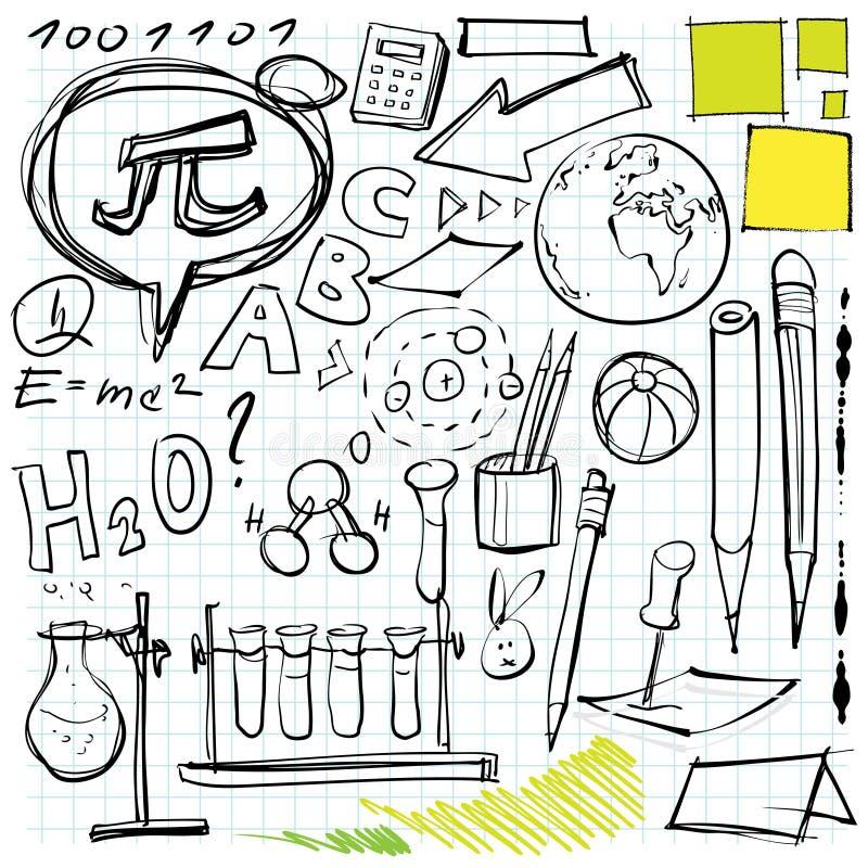 Plecy Doodles Szkoła Zdjęcia Stock