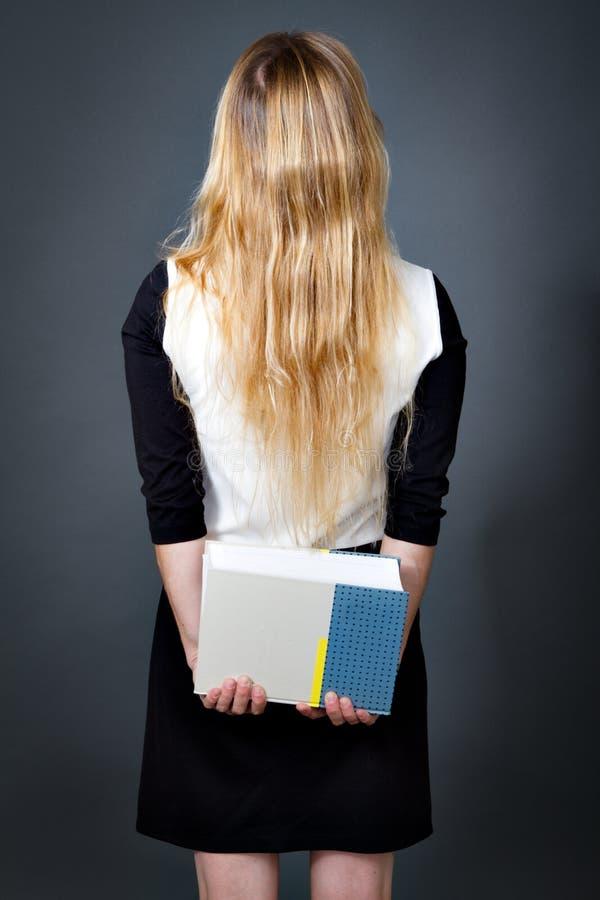 Plecy elegancka blondynki kobieta prawo fotografia royalty free