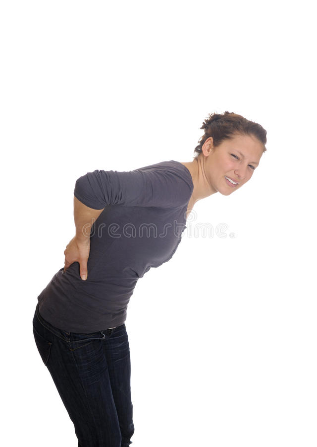 plecy kobiet bólowych potomstwa zdjęcia stock