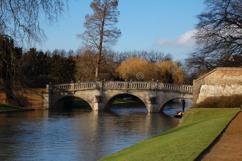 Plecy, Rzeczny krzywka, Cambridge, Cambridgeshire, Anglia, UK fotografia stock