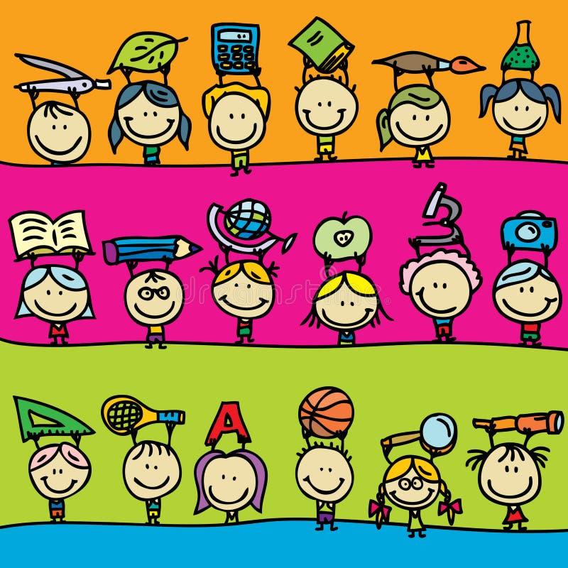 Plecy szkoła ilustracji