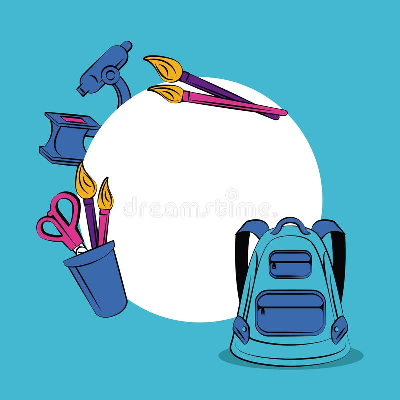 Plecy szkoły rama ilustracja wektor