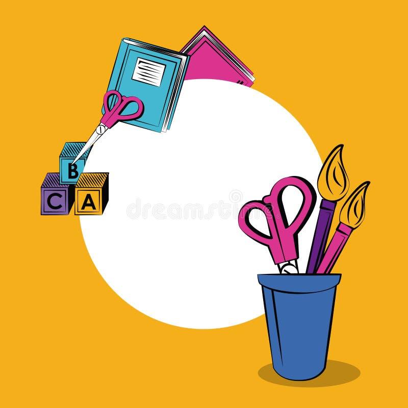 Plecy szkoły rama ilustracji