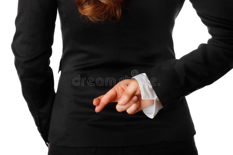 plecy za biznesem krzyżującym dotyka mienie kobiety obraz stock