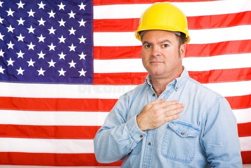 Pledge americano do trabalhador fotos de stock