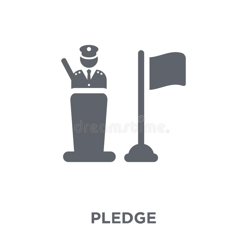 Pledge icon from Army collection. Pledge icon. Pledge design concept from Army collection. Simple element vector illustration on white background royalty free illustration