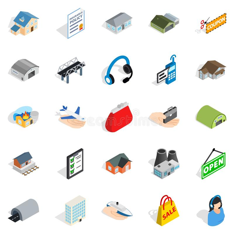 Pledge icons set, isometric style. Pledge icons set. Isometric set of 25 pledge vector icons for web isolated on white background vector illustration