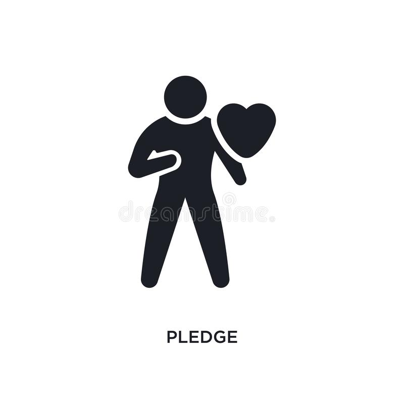 Pledge isolated icon. simple element illustration from crowdfunding concept icons. pledge editable logo sign symbol design on. White background. can be use for royalty free illustration
