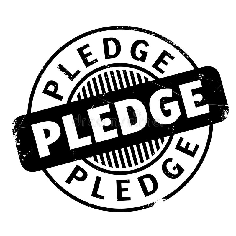 Pledge rubber stamp. Grunge design with dust scratches. Effects can be easily removed for a clean, crisp look. Color is easily changed vector illustration