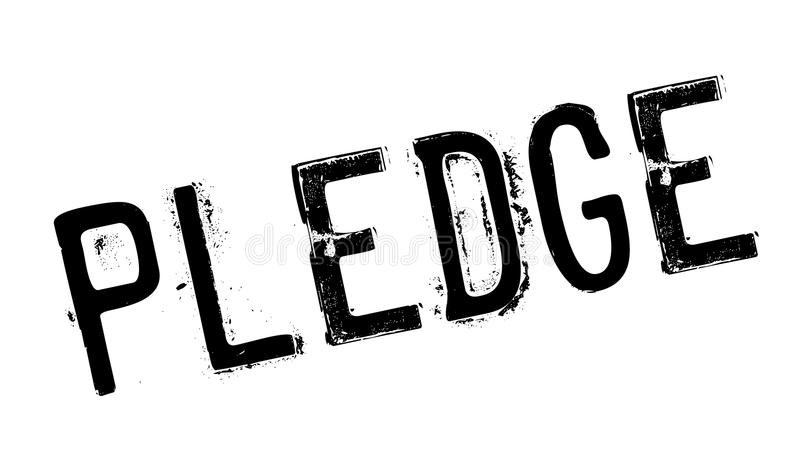 Pledge rubber stamp. Grunge design with dust scratches. Effects can be easily removed for a clean, crisp look. Color is easily changed royalty free illustration