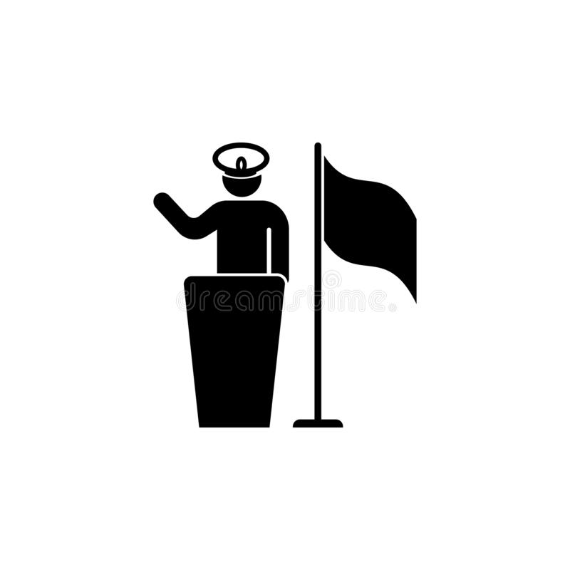 Pledge, soldier, captain, flag icon. Can be used for web, logo, mobile app, UI, UX. Pledge, soldier, captain, flag icon. Can be used for web, logo, mobile app vector illustration