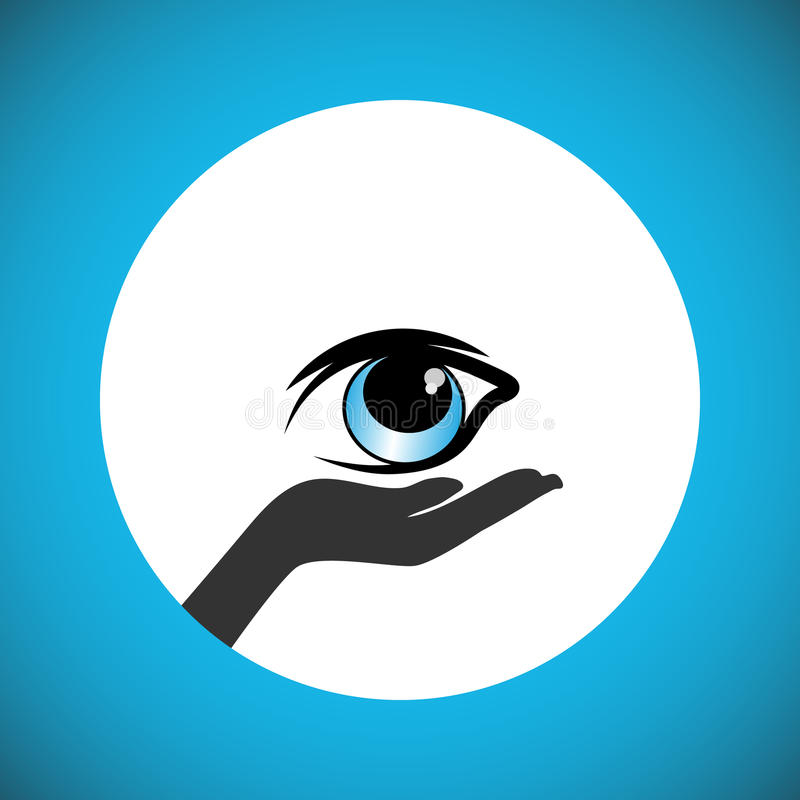 Pledge to donate the eyes after death and support the People to carry out the wishes of eye donation. Also Illustrates Eye Protection Or Eye Doctor Concept and vector illustration
