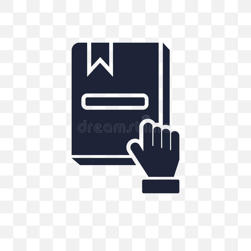Pledge transparent icon. Pledge symbol design from Army collection. Simple element vector illustration. Can be used in web and mo. Pledge transparent icon royalty free illustration