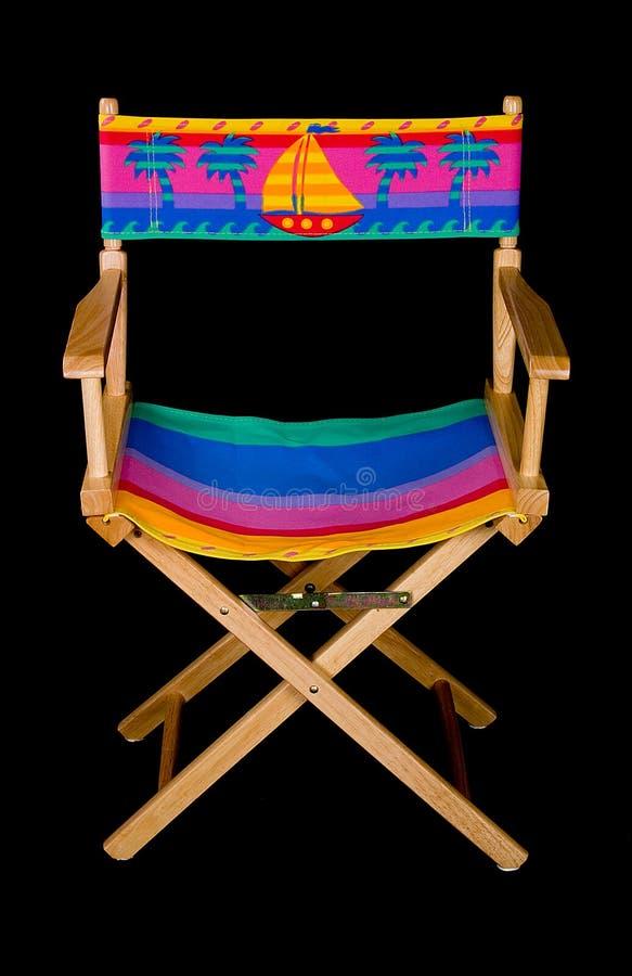 Plegable hacia fuera la silla de playa - derecho imágenes de archivo libres de regalías