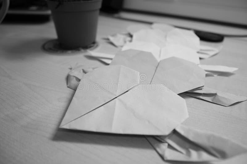 Plegamiento de papel fotografía de archivo libre de regalías
