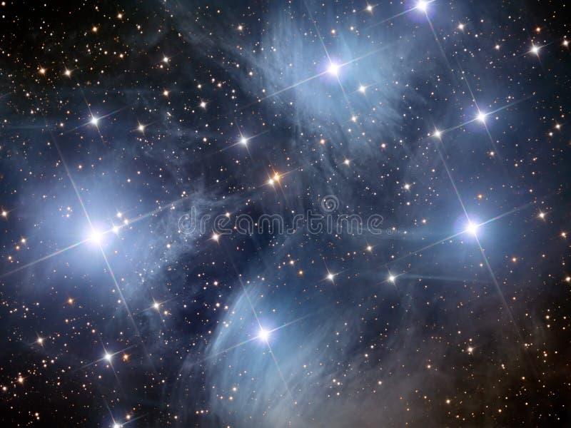 Pleiades M45 库存例证
