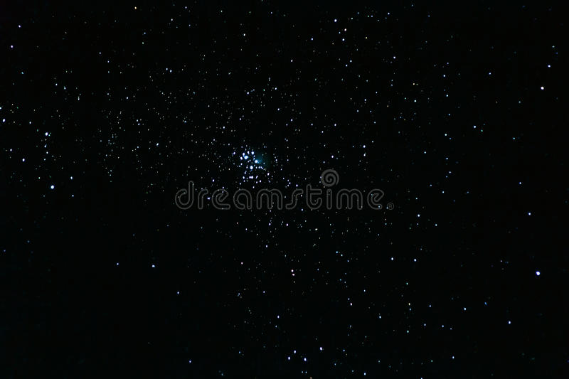 The Pleiades, open star cluster in the constellation of Taurus. M45, Seven Sisters royalty free stock photography