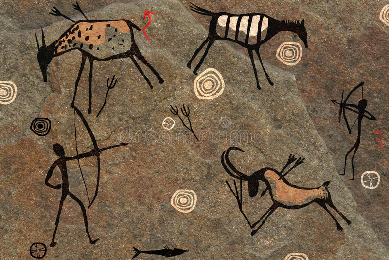 plein écran de dessin de roche illustration de vecteur