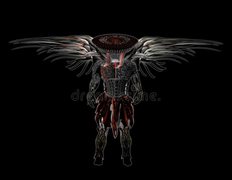 Plein ange en métal illustration stock