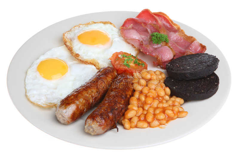 plein anglais de déjeuner image libre de droits