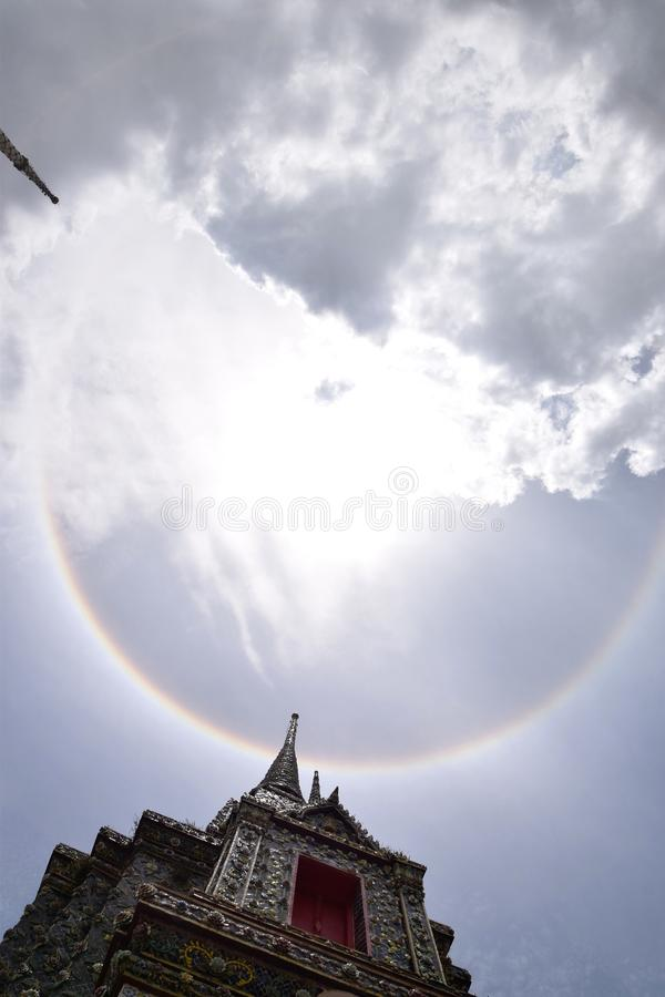 Plein arc-en-ciel photographie stock