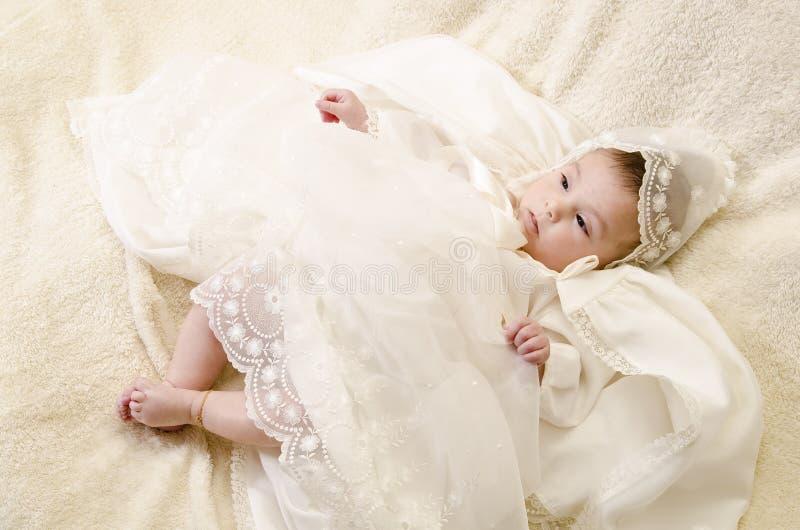 Plein bébé de baptême photos stock