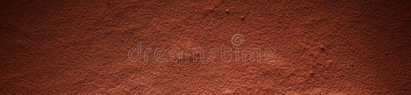 Plein cadre de la surface de poudre de cacao photo libre de droits