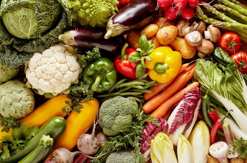 Plein cadre des légumes frais images stock