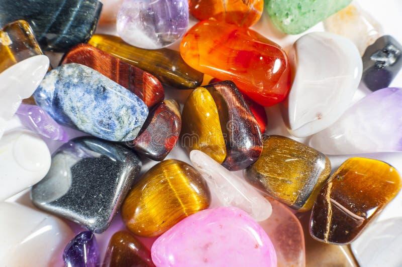 Plein cadre des pierres gemmes arrondies photographie stock libre de droits