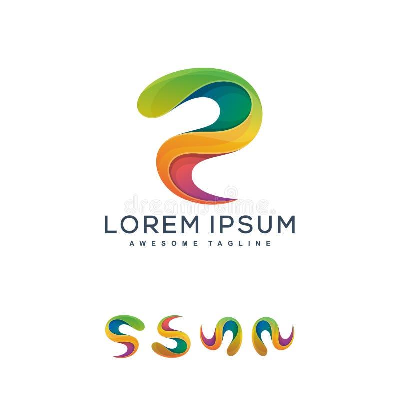 Plein calibre de conception de vecteur d'illustration de concept de couleur abstraite de lettre illustration de vecteur