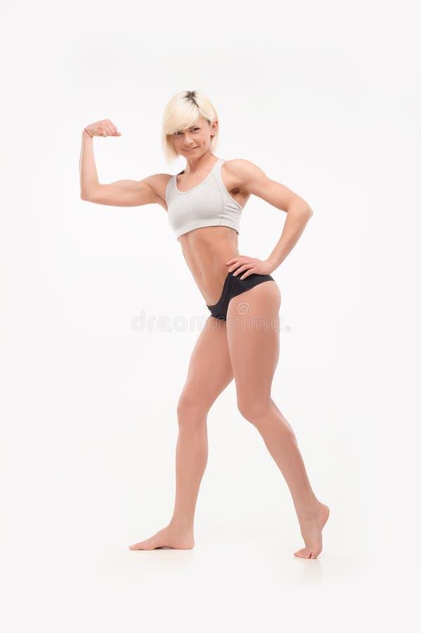 Plein corps tiré des formes sportives femelles images libres de droits