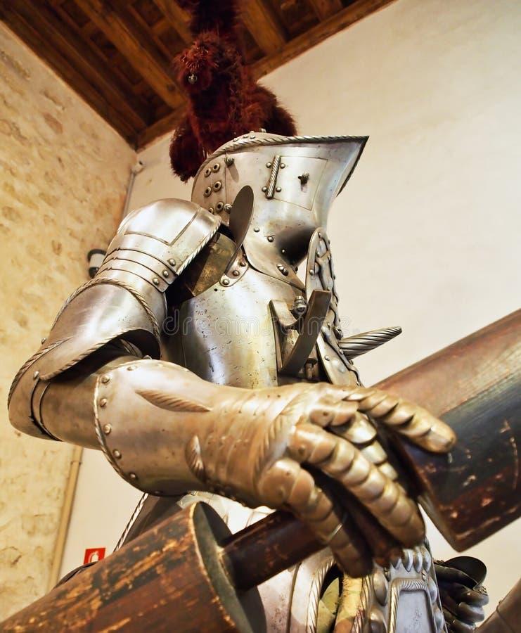 Plein costume d'armure, musée militaire de Sergovia, Espagne images stock