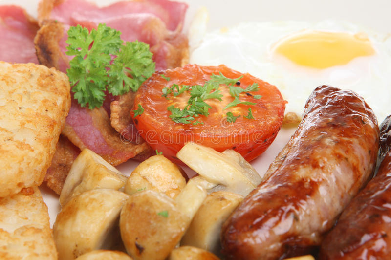 Plein déjeuner cuit anglais photographie stock libre de droits